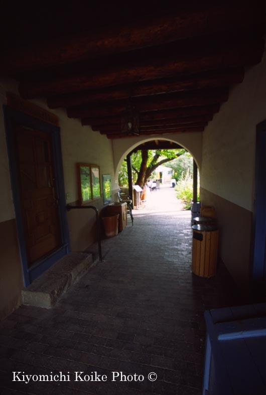 プラザ付近のお店の中庭